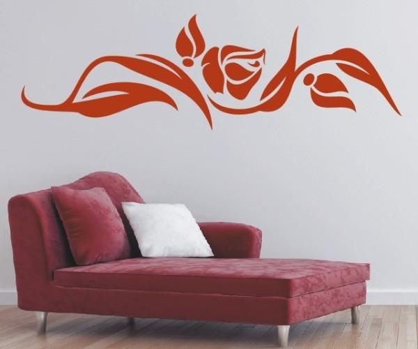 Wandtattoo - Blumenmotiv / Blumenranke - Variante 238
