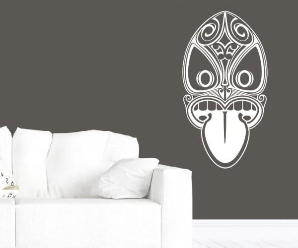 Wandtattoo - Maori - Maskenmotiv - Variante 19