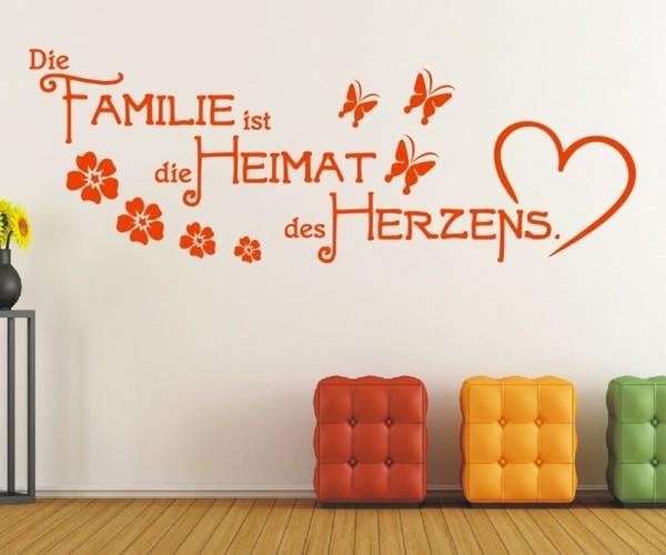 Wandtattoo - Die Familie ist die Heimat des Herzens. | 15