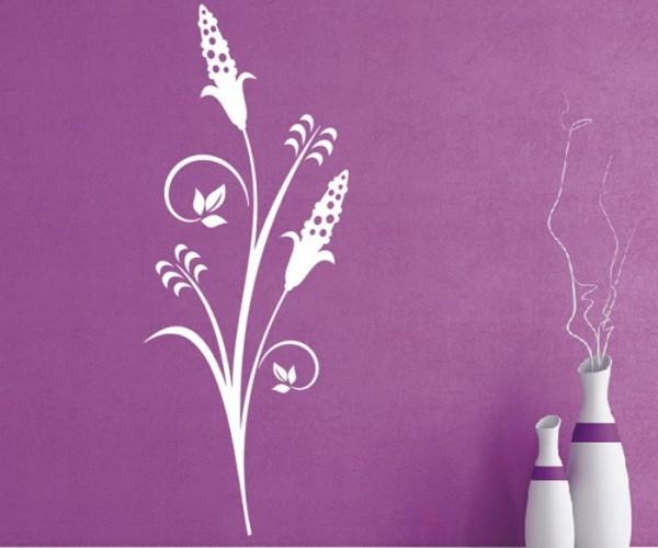 Wandtattoo - Blumenmotiv / Blumenranke - Variante 190