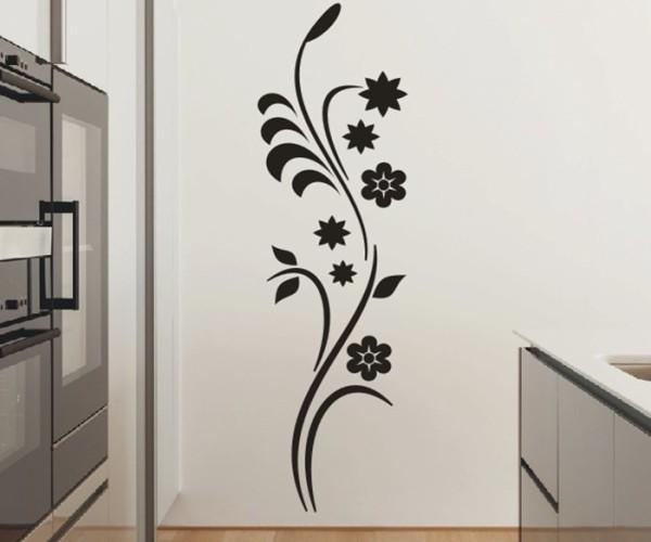 Wandtattoo - Blumenmotiv / Blumenranke - Variante 222