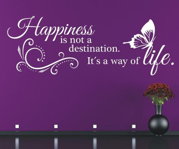 Wandtattoo - Happiness is not a destination. It´s a way of life. (Glück ist kein Ziel. Es ist eine Art zu Leben.) | 4