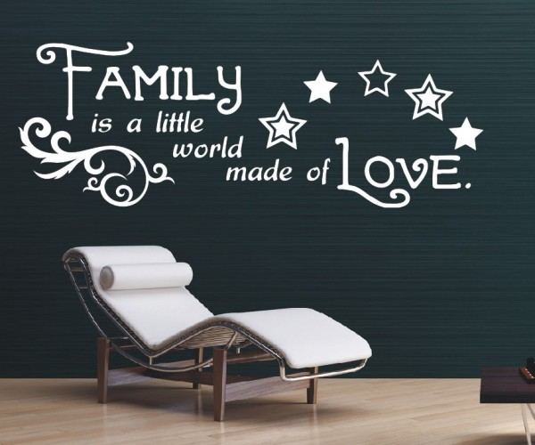 Wandtattoo - Family is a little world made of Love.   3