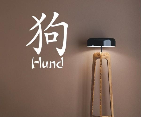 Wandtattoo - Chinesische Zeichen - Tierkreiszeichen/Sternzeichen - Variante 4