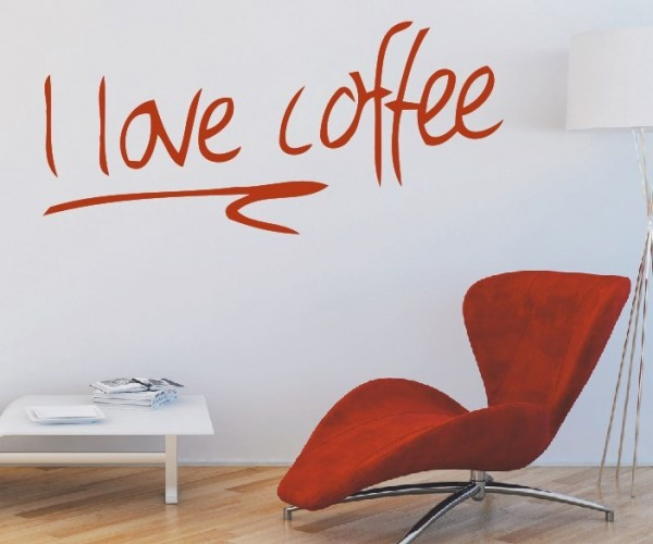 Wandtattoo - Küche - Tee Kaffee Küche Esszimmer Coffeshop Wandbild Wanddeko-18