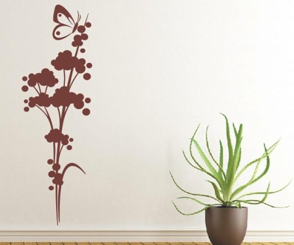 Wandtattoo - Blumenmotiv / Blumenranke   226