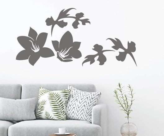Wandtattoo - Blumenmotiv / Blumenranke - Variante 104