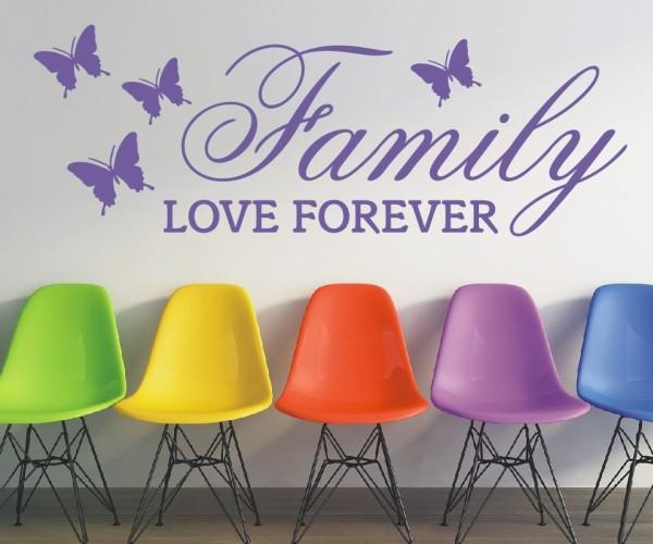 Wandtattoo - Family love forever   1