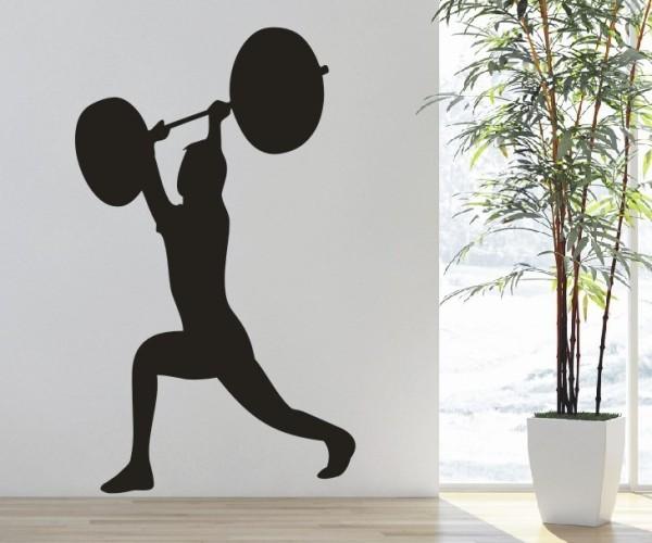 Wandtattoo - Bodybuilding / Kraftsport - Silhouette / Schattenmotiv - Variante 1