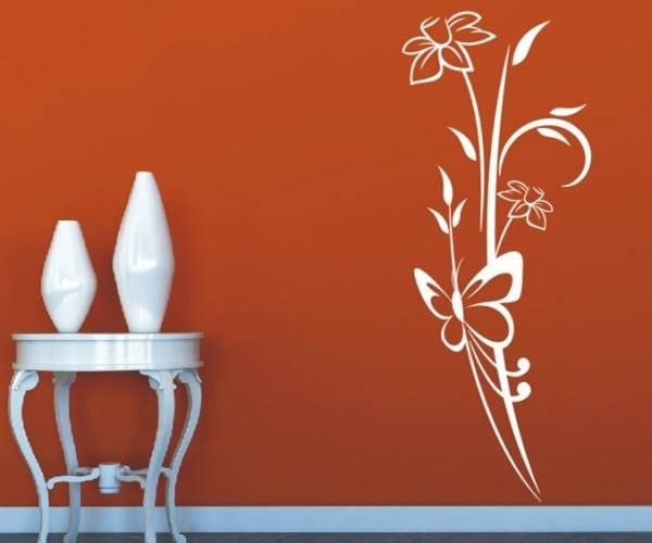 Wandtattoo - Blumenmotiv / Blumenranke - Variante 186