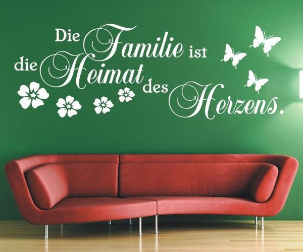 Wandtattoo - Die Familie ist die Heimat des Herzens.   6