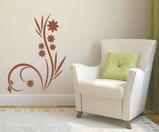 Wandtattoo - Blumenmotiv / Blumenranke - Variante 50
