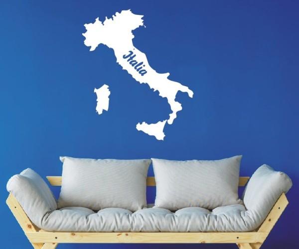 Wandtattoo - Italien - Landkarten - Europa   2