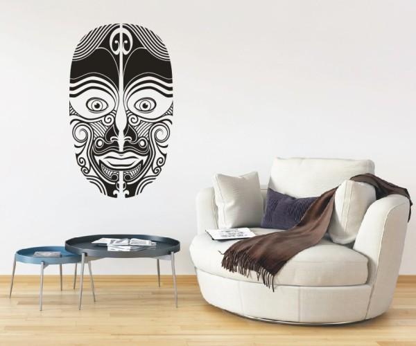 Wandtattoo - Maori - Maskenmotiv - Variante 16