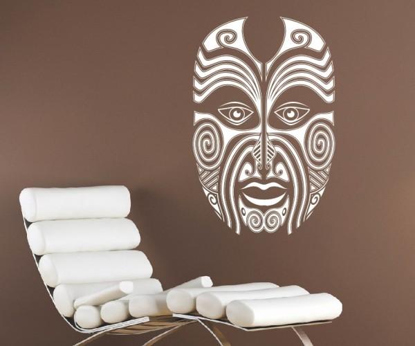 Wandtattoo - Maori - Maskenmotiv - Variante 7