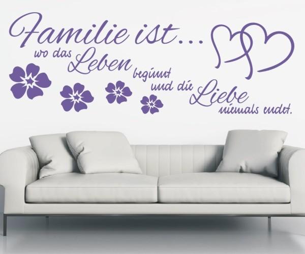Wandtattoo - Familie ist... wo das Leben beginnt und die Liebe niemals endet. | 9