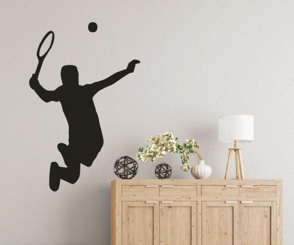 Wandtattoo - Tennis - Silhouette / Schattenmotiv | 2