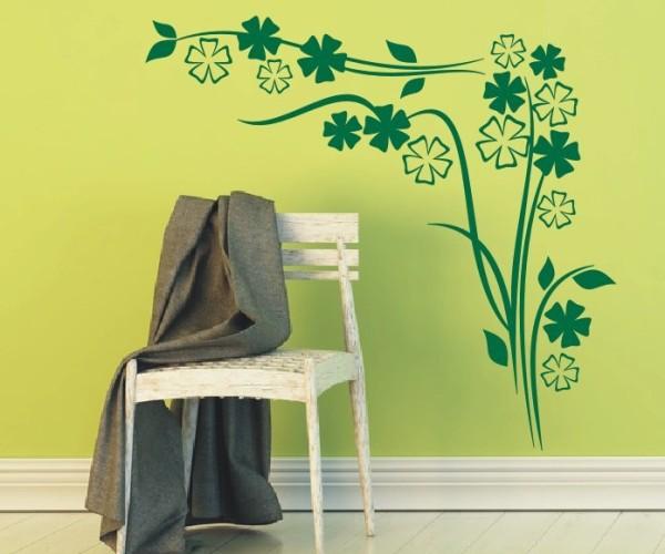 Wandtattoo - Blumenmotiv / Blumenranke - Variante 19