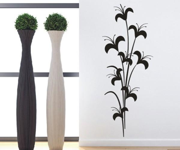 Wandtattoo - Blumenmotiv / Blumenranke | 183