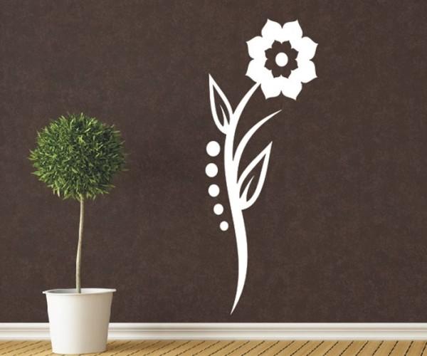 Wandtattoo - Blumenmotiv / Blumenranke - Variante 180