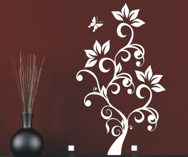 Wandtattoo - Blumenmotiv / Blumenranke - Variante 91