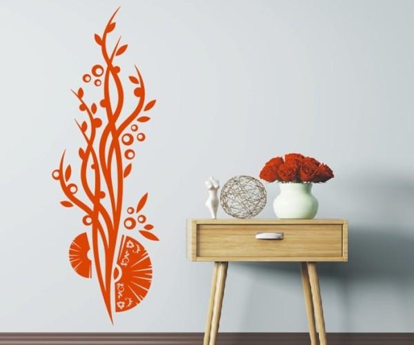 Wandtattoo - Blumenmotiv / Blumenranke   210