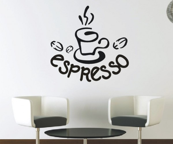 Wandtattoo - Küche - Tee Kaffee Küche Esszimmer Coffeshop Wandbild Wanddeko-12