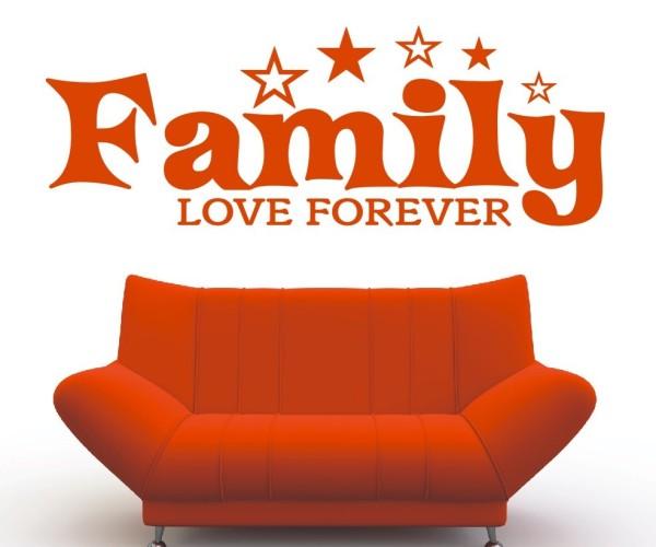 Wandtattoo - Family love forever | 6