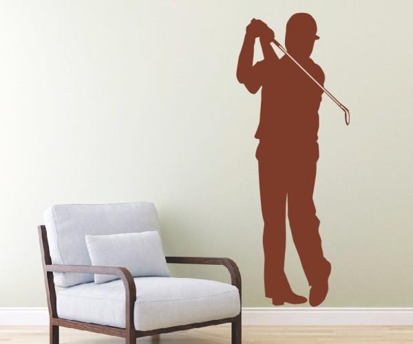 Wandtattoo - Golf - Silhouette / Schattenmotiv - Variante 5