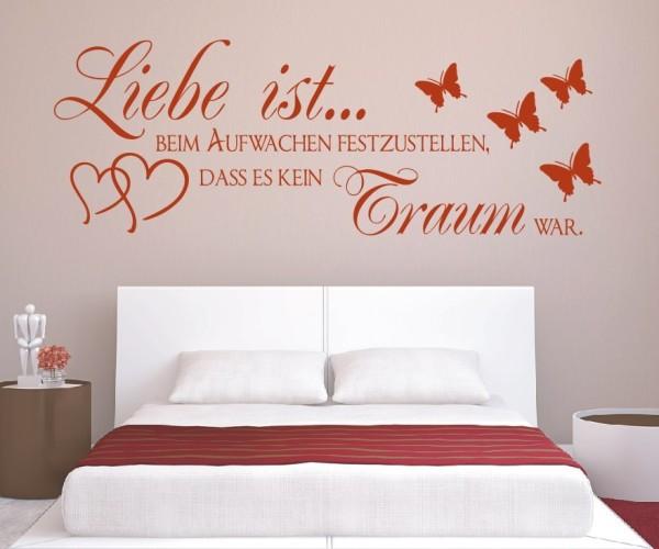 Wandtattoo - Liebe ist... beim Aufwachen festzustellen, dass es kein Traum war. | 9