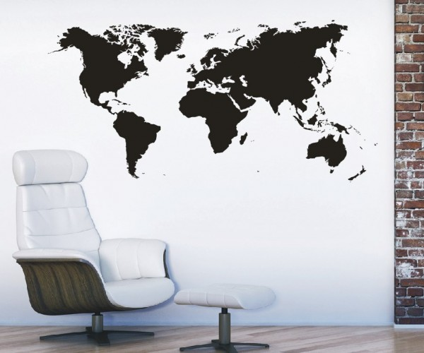 Wandtattoo - Weltkarte - Variante 1
