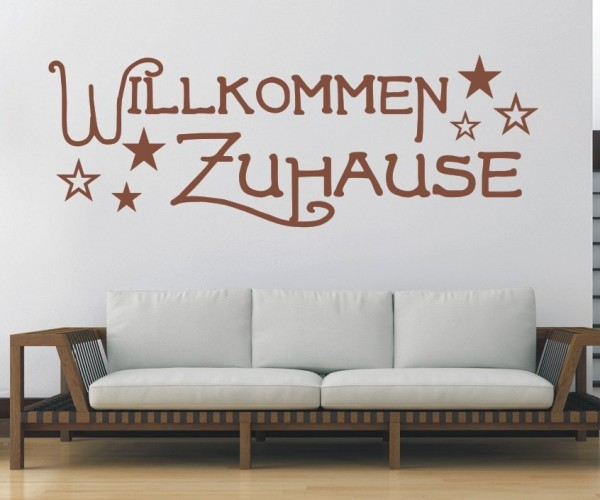 Wandtattoo - Willkommen Zuhause - Variante 7