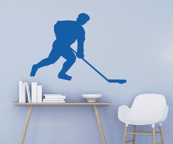 Wandtattoo - Eishockey - Silhouette / Schattenmotiv - Variante 5
