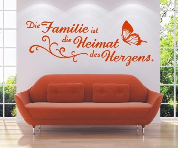 Wandtattoo - Die Familie ist die Heimat des Herzens. - Variante 14