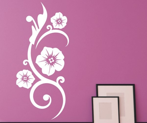 Wandtattoo - Blumenmotiv / Blumenranke - Variante 122