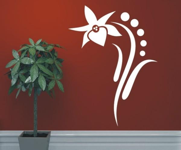 Wandtattoo - Blumenmotiv / Blumenranke | 53