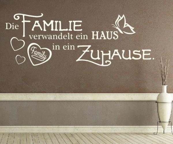 Wandtattoo - Die Familie verwandelt ein HAUS in ein Zuhause.   5