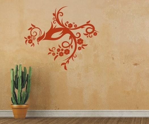 Wandtattoo - Blumenmotiv / Blumenranke - Variante 29