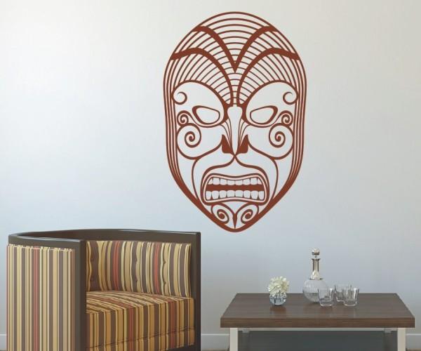 Wandtattoo - Maori - Maskenmotiv - Variante 8