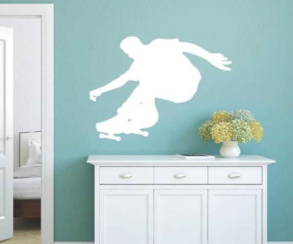 Wandtattoo - Inliner & Skateboard - Silhouette / Schattenmotiv | 5