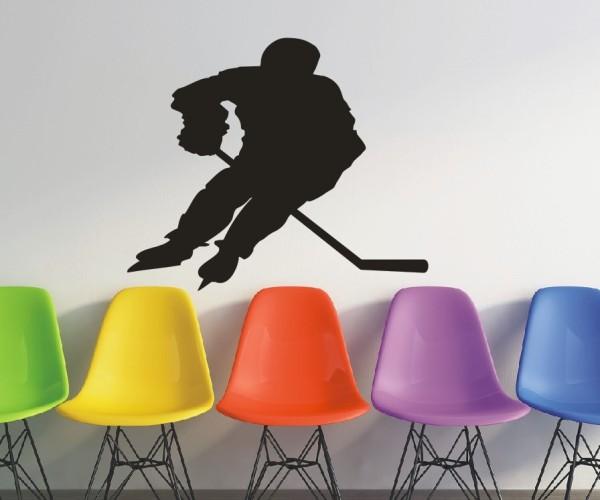 Wandtattoo - Eishockey - Silhouette / Schattenmotiv - Variante 1