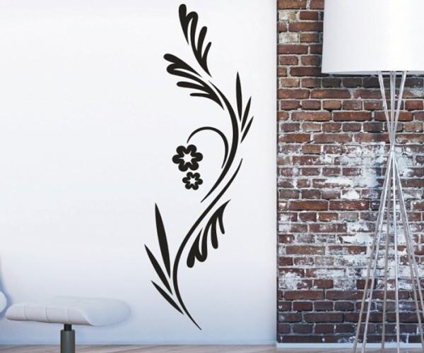 Wandtattoo - Blumenmotiv / Blumenranke | 224
