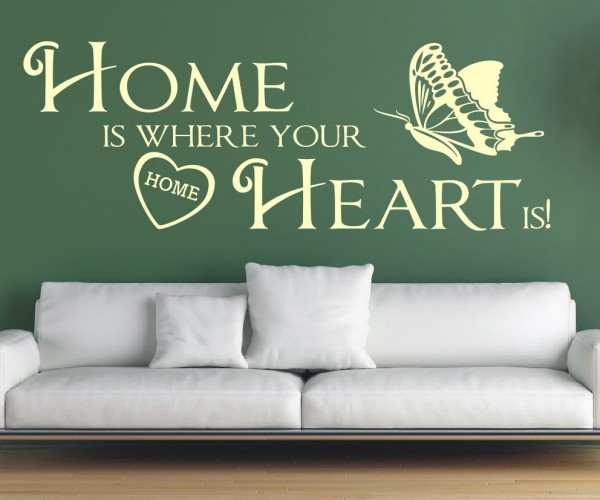 Wandtattoo - Home is where your Heart is! - Variante 7