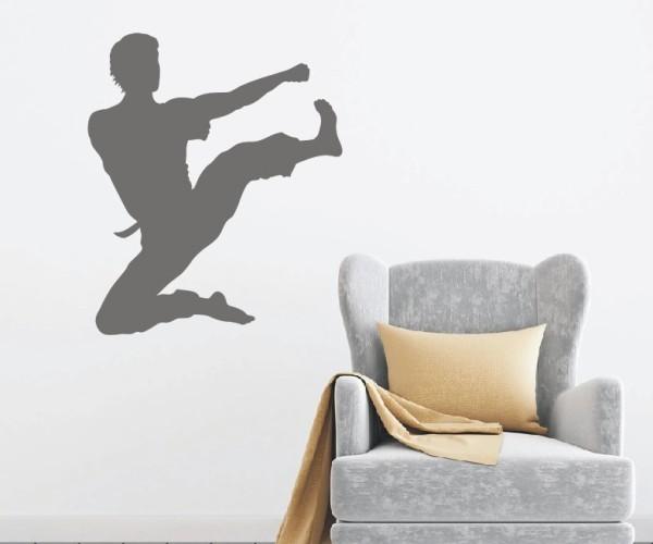 Wandtattoo - Kampfsport - Silhouetten / Schattenmotiv - Variante 4