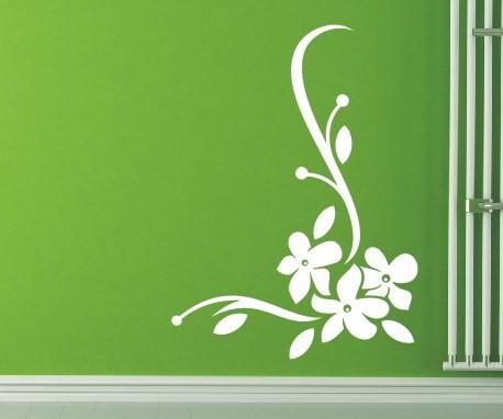 Wandtattoo - Blumenmotiv / Blumenranke - Variante 54