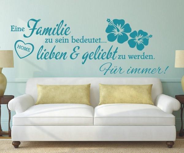 Wandtattoo - Eine Familie zu sein bedeutet... lieben & geliebt zu werden. Für immer! | 5