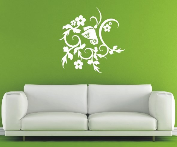 Wandtattoo - Blumenmotiv / Blumenranke - Variante 259