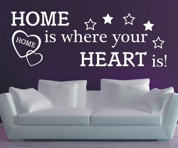 Wandtattoo - Home is where your Heart is! - Variante 1