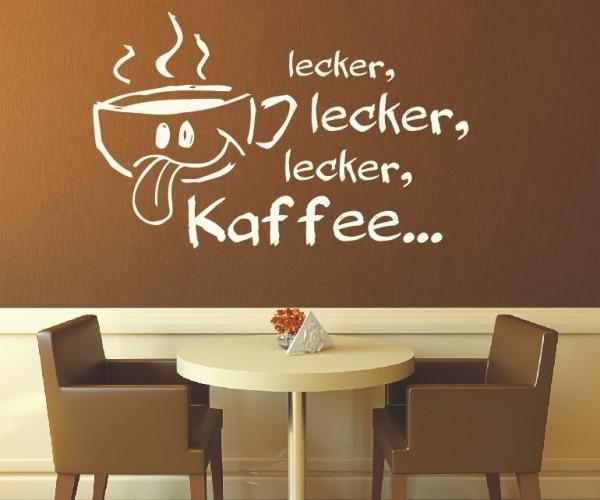 Wandtattoo - Küche - Tee Kaffee Küche Esszimmer Coffeshop Wandbild Wanddeko-16