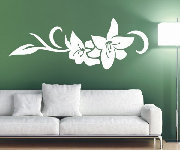 Wandtattoo - Blumenmotiv / Blumenranke - Variante 164